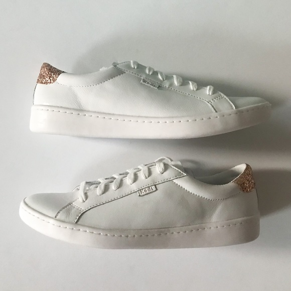 b3918654b936 Kate Spade x Keds Leather   Glitter Sneakers 9